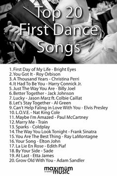 Most popular first dance songs 2017
